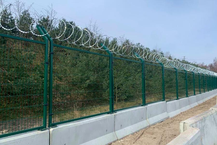ogrodzenie z zapór betonowych