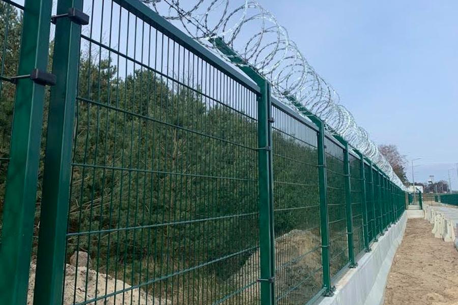 ogrodzenie mobilne zapory betonowe